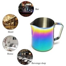 Milk Pitcher Frothing Cup Stainless Steel Coffee Jug Rainbow Espresso Latte Tea image 4