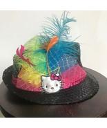 Hello Kitty Black Sequin Feather Fedora Hat - $39.99