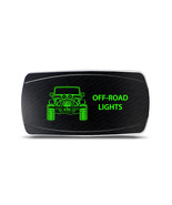 Rocker Switch Jeep Wrangler JK Off-Road Lights Symbol - Horizontal - Gre... - $16.44