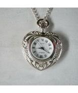 Gianello Filagree 925 Sterling silver Pendant necklace watch Japan movem... - $79.19