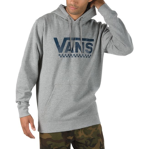 Vans Classic Logo Hoodie Sweatshirt Outerwear Checkered Heather Gray NWT... - $48.99
