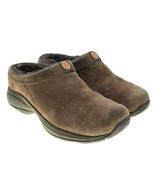 MERRELL Primo Chill Brown Womens Sz 8 Suede Slip-ons Clogs Faux Fur Lining - $29.69