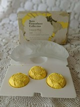 Avon Vintage Flowerfrost Collection Crescent Plate And 3 Sunny Lemon Gue... - $9.69