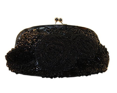 Luxury Black Full Beading & Sequin Party Clutch Bridesmaid Clutch