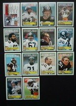 1983 Topps Pittsburgh Steelers Team Set of 14 Football Cards Missing #356 - $11.99