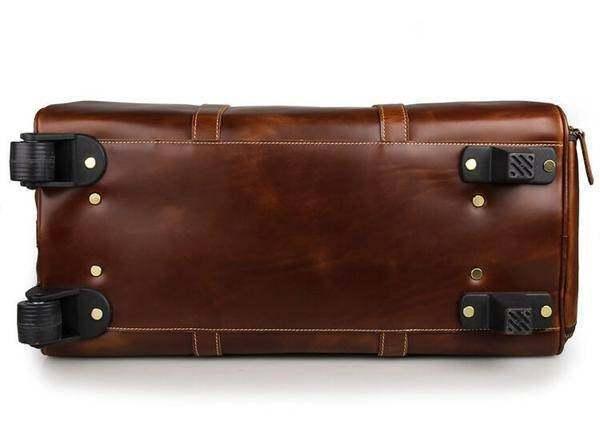 On Sale, Handmade Vintage Full Grain Leather Travel Bag, Duffel Bag, Holdall Lug image 4
