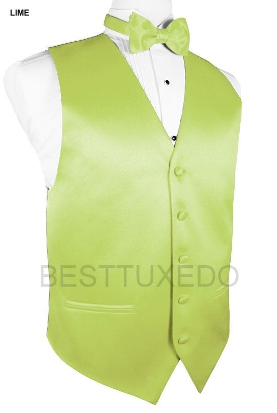 30 Colors of Men's Formal Vests, Bow-Ties and Pocket Squares. Sizes: XS - 5XLT