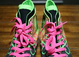 Converse Chuck Taylor All Star Zipback 649963C Black Pink Green Shoes Girls Sz 5 image 5