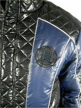 Ed Hardy By Christian Audigier Men's Premium Puffer Nylon Jacket Blue size XL image 5