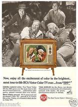 RCA Color TV                1964 Magazine Ad                     Cast of... - $8.75
