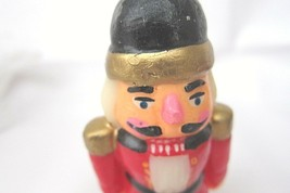 Vintage Nutcracker Christmas Candle Colorful No Marks Unused 5-3/4 inch - $12.74