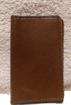 Fashion Practical Leather Business Credit ID Card Holder Case Wallet Tan - $8.86
