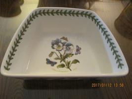 "Portmerion Botanic Garden Wedge Shape Bowl 7"" x... - $12.87"