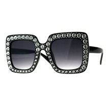 Bling Bling Rhinestone Sunglasses Oversized Square Womens Fashion - $13.95