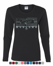 Ford Mustang Honeycomb Grille Women's Long Sleeve Tee Legendary American... - $11.89+