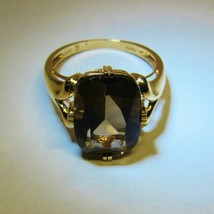 VTG QVC Solid 14K 14KT Yellow Gold Deep Brown Smoky Smokey Quartz Size 9... - $247.50
