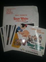 11 x 14 Full Color Scenes Walt Disney's Snow White Severn Dwarfs Technic... - $49.49