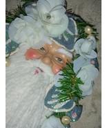 Vintage Victorian Santa Claus Ornament Powder Blue  - $10.00