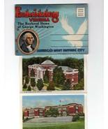 "LINEN SOUVENIR FOLDER- FREDERICKSBURG, VIRGINIA."" 18 COLORTONE SCENES  BK16 - $3.92"