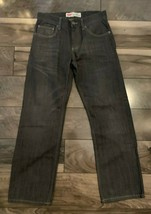 LEVI'S 514 STRAIGHT ZIPPER FLY RED TAG BLACK JEANS-TAG SIZE 16 REG 28X28 - $21.73