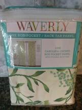 "Waverly Window Panel Floral Carolina Crewel Rod Pocket Spring Floral 52"" x 84"" - $23.75"