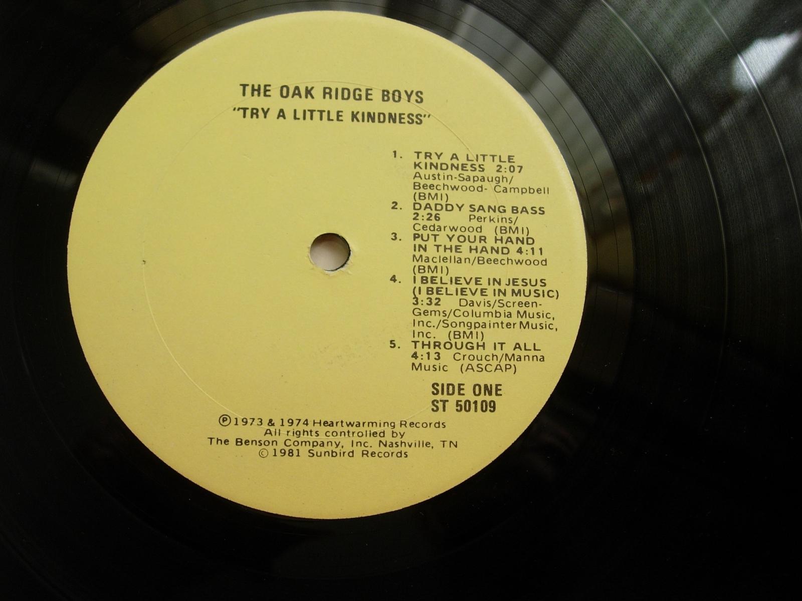 Oak Ridge Boys - Try a Little Kindness - Sunbird Records ST 50109