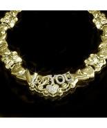 Ladies 14K Yellow Gold Fin Lab Diamond XO I Lov... - $108.89