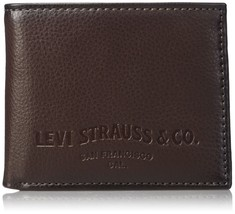 Levi's Men's Extra Capacity Slimfold Wallet Brown Chocolate One Size - $22.10