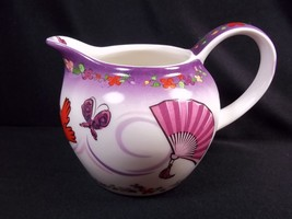 Paul Cardew Red Hat Society creamer Tea Time fans gloves purses 10 oz 2004 - $9.70