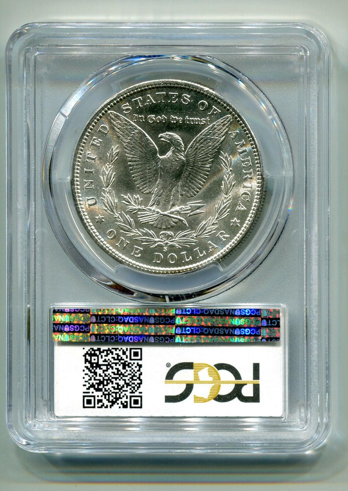 1887-S MORGAN SILVER DOLLAR PCGS MS63 NICE ORIGINAL COIN PREMIUM QUALITY PQ image 2