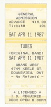 Rare THE TUBES 4/11/87 Downsview Ontario Canada Concert Ticket Stub! Tor... - $14.84