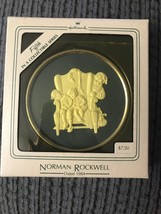 1984 Hallmark Ornament Caught Napping Cameo Norman Rockwell Collection 5th - $2.95