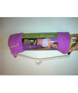 New Gaiam Mat Towel Fast Drying Thirsty Hot Yoga Pilates Pink Purple Yellow Abso - $22.50