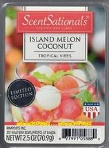 Island Melon Coconut ScentSationals Scented Wax Cubes Tarts Melts Potpourri - $3.50