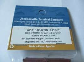 Jacksonville Terminal Company # 205313 Beacon Leasing 20' Brown Std Container image 2