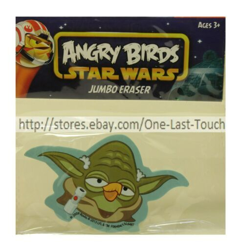 Primary image for ANGRY BIRDS Jumbo Eraser YODA Great For School/Office STAR WARS For Kids BLUE