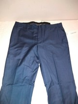 Calvin Klein Medium Blue Sharkskin Pants Suit Separates Size 38W x 30L NWT - $41.57