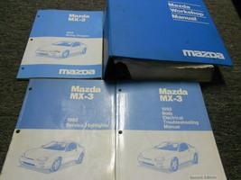 1992 Mazda MX3 MX-3 Servicio Tienda Reparación Taller Manual Juego con Ewd + OEM - $177.77