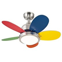 Westinghouse Lighting 7223600 Roundabout Indoor Ceiling Fan with Light, 30 Inch, - $154.23