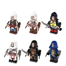 6pcs Assassin's Creed Firenze Dorian Cormac Kenway with Sleeves Sword Fi... - $11.99