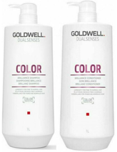 Goldwell Dualsenses - Color Brilliance Shampoo & Conditioner,  Liter Duo