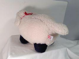 "Mary Meyer Plush Fluffy Lamb Sheep WHite & Black 14"" Lgth 8.25"" tall CUTE image 7"