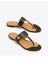 Tory Burch KIRA Thongs Sandals Black Leather Shoes Flip Flops 10.5 Gold ... - $139.00