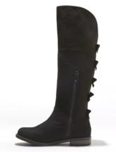 Cat & Jack Black Faux Suede Leora Zipper Ankle Riding Boots image 2