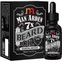 Man Arden 7X Beard Oil 30ml (Sandalwood)-100% natural & pure 7 super-ingredients - $16.36