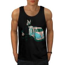 Hippie Bus Tee Vintage Van Men Tank Top - $12.99
