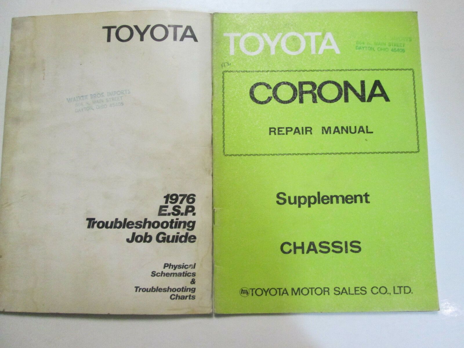 1976 toyota esr troubleshooting job guide set factory oem used books - $17.59