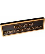 """ABI Woodworking """"Illegitimi Non Carborundum"""", Decorative Wood Sign Plaque, Carve - $29.48"""
