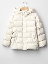 NWT $98 GAP Kids Girls ColdControl PrimaLoft Puffer Coat Jacket Ivory XS... - $45.53