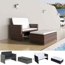 vidaXL Garden Sofa Set 5 Pieces Poly Rattan Outdoor 2-Seater Bed Multi C... - $196.99+